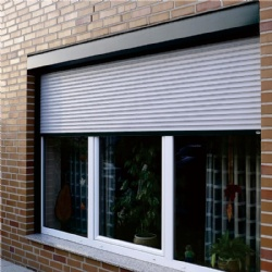 Insulated rolling shutter window